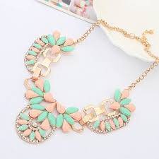 resin necklace wholesale images Cheap pink crystal necklaces find pink crystal necklaces deals on jpg