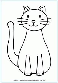 easy outlines of animals pet animal colouring pages