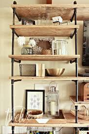 How To Make A Pipe Bookshelf Diy Industrial Pipe Shelves Twelve On Main