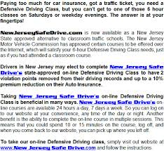 6 hours class online new jersey safe drive online driving school new jersey defensive