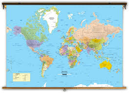 World Map Poster Large World Map With Cities Poster