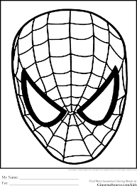 spiderman coloring pages face ginormasource kids