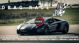 lamborghini car race levella puts together epic drag race with 10 modded cars
