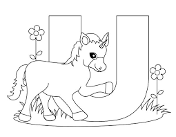 unicorn coloring pages for kids letter u worksheets and coloring pages for preschoolers letter u