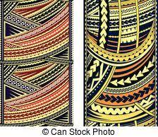 maori style ornaments set of ethnic ornament in maori style eps