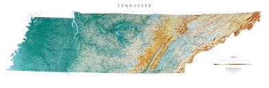 Topographical Map Of Tennessee by Raven Maps My Blog