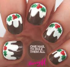 one nail to rule them all tutorial tuesday christmas pudding