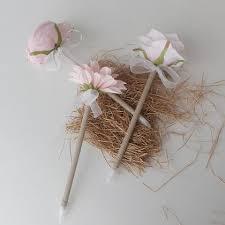 wedding guest book pen light pink peony flower pen wedding guest book pens rustic wedding