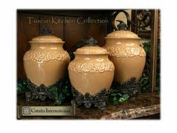 tuscan style large kitchen canisters the shape not the