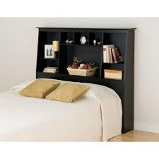 prepac sonoma black double queen headboard bsh 6656 the home depot