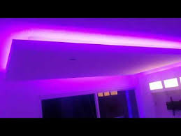 Led Ceiling Strip Lights by Gypsum Ceiling And Led Strip Lighting Youtube
