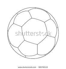 3d logo football soccer ball stock illustration 672146353