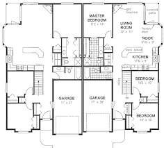 first floor plan of ranch multi family plan 58770 house plans