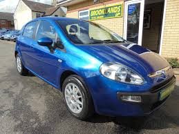 used fiat punto evo blue for sale motors co uk