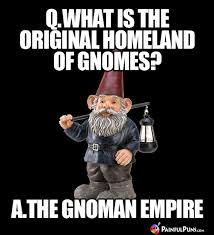 Gnome Meme - painful puns gnome puns intended funny gnomes telling jokes troll