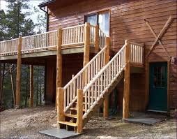 outdoor how to install stair railing outdoor deck stair treads