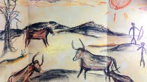 prehistoric cave painting mixed media art project for kids youtube