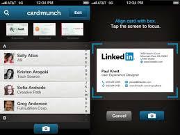 Business Card Capture App Cardmunch U2013 Business Card Reader By Linkedin Iphone App Review