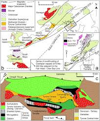the tectonothermal evolution and provenance of the tyrone central