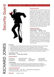 Security Guard Resume Example by London Olympic Cv Templates