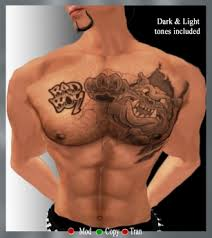 second marketplace platinum tattoos bad boy chest