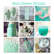 mint green drinks for mint green wedding smoothie straws