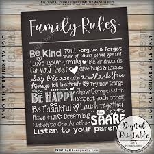 Family House Rules Family Rules Sign Follow The Rules Of The Family Sign House