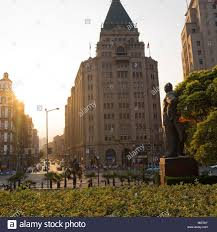 north building of the peace hotel shanghai the bund stock photo