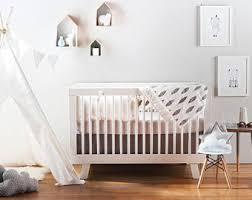 modern crib bedding etsy