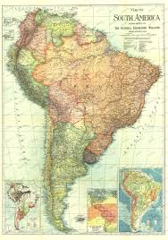 1921 national geographic magazine map of south america maps of