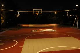 innovative lighting for backyard sport game courts outdoor
