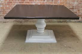 Square Pedestal Table Square Pedestal Table With Center Extension Ecustomfinishes