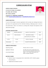 application resume format resume format for sle of biodata for application
