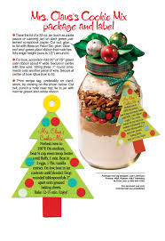 mrs claus cookie mix gift jar woman u0027s world christmas