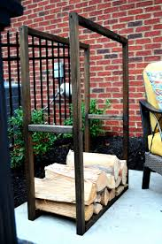firewood rack using no tools firewood storage yards and backyard