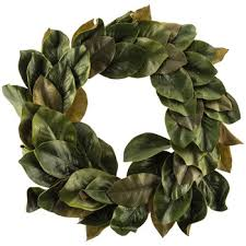 magnolia leaves polyester wreath hobby lobby 1247311