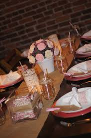 a shabby chic simple and pink baby shower dinner