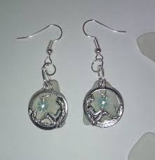 mermaid earrings mermaid earrings sea glass jewelry by sea glass secrets