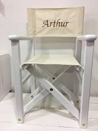 chaise metteur en scène bébé fauteuil enfant metteur en scène blanc prénom personnalisé marron