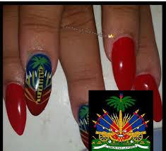 Haitian And Jamaican Flag Haitian Flag Nails I U0027m Gonna Do Them Every Year Nails