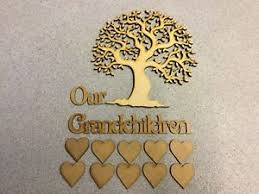 mdf family tree laser cut tree design 3 our grandchildren with