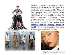 makeup artist in naina arora professional freelance fashion bridal makeup artist in de