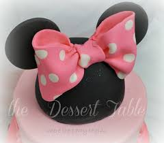 48 Best Minnie Mouse Ideas Images On Pinterest Fondant Bow