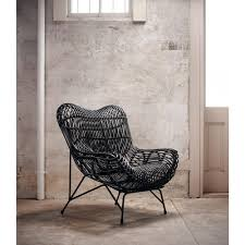Modern Classic Furniture Cowan Modern Classic Black Metal Wicker Chair Kathy Kuo Home
