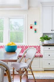 eat in kitchen with built in dining bench transitional kitchen