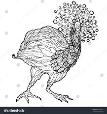 emu ostrich coloring page printable vector stock vector 367988231