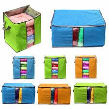 aliexpress com buy big clothing storage bag bin zipped handles