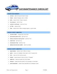 Maintenance Checklist Template Excel Car Maintenance Schedule Spreadsheet Free Laobingkaisuo Com