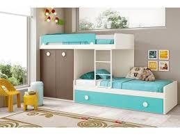 chambre fille avec lit superposé lit superposé enfant avec lit gigogne composition l203 1 glicerio