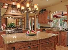 Country Style Kitchen Furniture by Luxury Rustic Kitchen Light Stone Countertop Natural Finished
